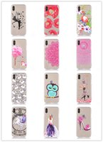 Wholesale Girls I Phone Covers - Cute Clear Phone Cases For iPhoneX iX Transparent i Phone Girl Slim Thin Light TPU Silicone Soft Designer Cellphone Pattern Paint Covers