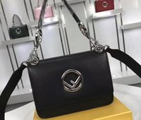 Wholesale Hand Bags Designs - Women Mini F017 KAN I Falp Bag Carry Shoulder or Hand Round F Design come with dust bag+Box Free Shipping