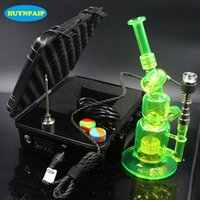 Wholesale hookah heater - Perfect colorful Dnail kits electronic vaporizer dnail heater coils temperature control box dnail for hookah water pipe