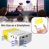 Wholesale Dlp Hd Led - Wholesale-Mini 1080P Full HD LED Projector LCD Smart Home Theater AV HDMI Multimedia UK APE