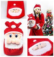 Wholesale Christmas Stocking Holders Wholesale - Santa Claus Candy Bag Sack Christmas Candy Bag Xmas Drawstring Backpack Gift Bags Treat Holder Present Sack Stocking Christmas Decor F20