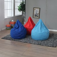 Wholesale Lazy Dog - Single Person Chair Drop Shape Bean Bag Sofa Chairs Couch Lazy Dog Upholstered Armchair No skeleton Soft Multi Colors Washable 70wh A