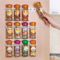 Wholesale 4pcs Plastic Spice Clips Gripper Wall Rack Storage Holders Flavoring Bottles Organizer hooks Kitchen Accessories