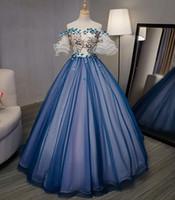 hofkleid cosplay großhandel-100% echte königliche Hofblau Barcoque Cosplay Ballkleid mittelalterlichen Kleid Renaissance Kleid Königin viktorianischen Ballkleid