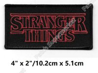 "Wholesale Friends Costumes - 4"" Stranger Things Inspired Patches TV Movie Film Series Costume Embroidered iron on Costume Cosplay Friends Don't Lie badge diy patch"