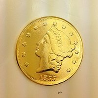 Wholesale motto metal - HOT SELLING $20 3 PCS (1855-P-S-O) Real 24K gold plating Liberty Head (NO MOTTO ON REVERSE) Twenty Dollars Or Doublle Eagle  FREE SHIPPING