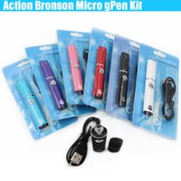 Wholesale Multi Action - Top quality Action Bronson Wax dry herb micro Pen Herbal Vaporizer Blister Kit Portable Elips vapor e cigs cigarettes vape Colorful kits DHL