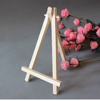 Wholesale Mini Wooden Easels Wholesale - 5pcs 8*15cm Mini Artist Wooden Easel Wood Wedding Table Card Stand Display Holder For Party Decoration