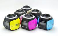 Wholesale Waterproof Wireless Mini Camcorder - New 360 degree mini wireless mini sport DV camcorder 2448*2448 Ultra HD Panorama Camera waterproof sport DV VR camera video Camera