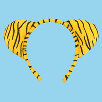 Wholesale cosplay animal ears - 2017 Kids Tiger Animal Ear Headband for Kids Children Hair Accessories Birthday Party Halloween Cosplay Christmas Gift