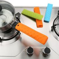ingrosso set multicolore-Manicotto antigas in silicone Manico antiscivolo Manopole Set copri clip a mano Multi Color Attrezzo da cucina 2 85zy F R