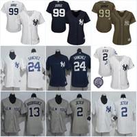 Wholesale Gary Mix - Women's #99 Aaron Judge Jersey New York Yankees #2 Derek Jeter 24 Gary Sanchez 13 Alex Rodriguez Baseball Jerseys Mix Order S-XXL