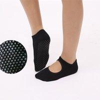Wholesale Silk Ribbon Dance - NEW Women round Yoga Socks Ladies Ballet Dancing socks With Ribbons GYM fitness toes socks