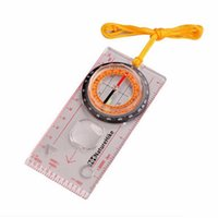 pointer type orienteering compass - hot Transparent compass Direction Guide Orienteering Scouts Army Survival Camping Outdoor