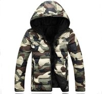 Wholesale Mens Jackets Canada - Wholesale- winter jacket men Fashion Overcoat 2016 New canada Warm cotton coat casual hooded jackets Parka Plus size winter jackets mens