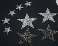 Wholesale Hotfix Rhinestone Clothing Design - BlingBling star design crystal hotfix rhinestone motifs iron on transfer rhinestone patches applique for clothing shoe 10pcs lot