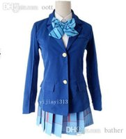 Wholesale Girls Cosplay Japan - Wholesale-Hot Sale Girls New School Uniforms Anime Love Live Cosplay Costumes Girls Cute Peppy Japan Japanise Ladies Hot Costumes for Sale