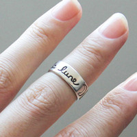 """Wholesale Price For Love - Factory Price Wholesale French """"la lune"""" Moon Ring,Adjustable Retro Style Romantic Love Witness Antique Silver Ring For Men EFR004"""