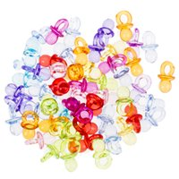 Wholesale Decorations Nipples - Wholesale-Hot Sale 2016 50pcs pack Baby Mini Pacifiers Feeding Dummies Soother Nipples High Quality Feeder Boys Girls birthday Decorations