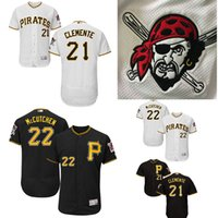 Wholesale Pittsburgh Pirates Authentic Jersey - Pittsburgh Pirates baseball jerseys Andrew McCutchen 21# Roberto Clemente Majestic Home White Flex Base Authentic Collection Player Jersey