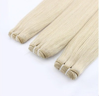 """natürliche jerry curl brasilianische haare weben großhandel-Sonderangebot Platinblond Malaysische Jungfrau Hai Gerade 8-30 """"Human Hai Extension 7A Unverarbeitete Remy Haarwebart"""