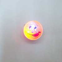 Wholesale christmas flashing led brooch - Led Badge Smiley Face Brooch Light-Up Emoji Toys Party Gift Flashing Props Decorations Masquerade Supplies ZA3827