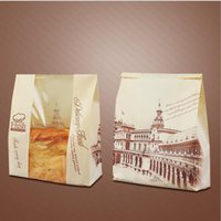 Wholesale Paper Baking Bread - 21+9*33cm Clear Window Kraft Toast Bag Food baking Paper Bags For Bread Paper Snack Bread Bag Party Supplies