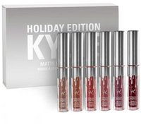 Wholesale Christmas Stockings Wholesale Prices - In Stock!!!Factory Price!!! kylie holiday edition kit 4pcs 6pcs Matte kylie jenner Liquid lipgloss Collection Set For Christmas Gift