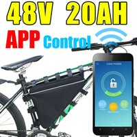 gps-lithium-batterien großhandel-APP Dreieck Lithium Batterie 48V 20Ah mit Bluetooth GPS Fernbedienung 48V E-Bike 1000W BAFANG Motor Electric Bike Batterie