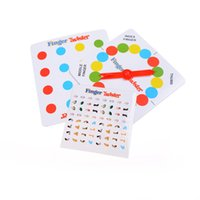 Wholesale Funny Cheap Gifts - Wholesale- 1 Set Funny Cheap Toys Finger Twist Finger Dance Family Interactive Game Board Game Small Gifts Children Math Toys