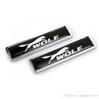 58x14mm Accessori per auto Car Styling Adesivi per porte laterali con WOLF ABT Sline JP Ralliart Racing Logo Sticker Badge Emblem