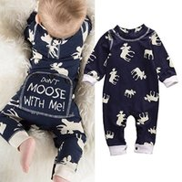 Wholesale Girls Clothes Size 12 Months - 2017 Boys Girls Baby Jumpsuits Long Sleeve Toddler Rompers Clothing Cartoon Printed Newborn Onesies Spring Autumn Bodysuit Infant Clothes