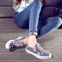 Pop Sale Primavera Autunno Floral Print Lace-Up Sneakers donna Low Top Flower Scarpe sportive casual Donna Scarpe di tela