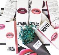 Wholesale Eyeliner Case - Hot brand liyada matte lipstick liquid cosmetic case + kilie waterproof eyeliner lasting matte lipstick lipstick 16 units   8 units