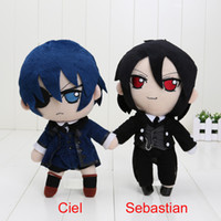 Wholesale Black Butler Ciel Toy - Wholesale- 10'' 25cm Black Butler Kuroshitsuji Ciel Sebastian Michael Plush Toy Doll