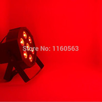 Wholesale master sounds - 14pcs lot LED Par 7x12W RGBW 4IN1 LED Luxury DMX 8 Channels Led Flat Par Lights