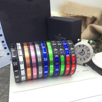 Wholesale Black Mexican Top - Top Quality 316L Titanium steel Pulseras Black Plated Bangle for Men And Women Stainless Steel Cuff Speedometer Bracelet Unisex Free Shippin