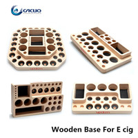 Wholesale Ego Cigarette Display - Vpdam Wooden Display Stand Base For Clearomizer Atomizer RDA RBA 510 Ego Wooden Base e cigarettes holder E cig Showcase Shelf Holder