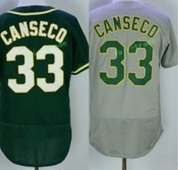 Wholesale Oakland Baseball Jersey - 2017 Flexbase Stitched Oakland 33 Jose Canseco White Gray Green Yellow Red Jerseys Home Away Road Flex base Jersey Mix Order