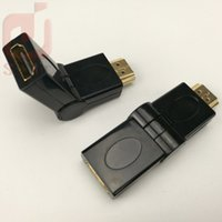 Wholesale Extender Data Cable - HDMI male to HDMI female cable adapter converter extender 180 degrees angle for HDTV Computer Camera Projector hdmi adapter 300ps lot