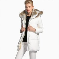 Wholesale High End Down Coats - Winter Black Jacket Women High-end European Leg Duck feather Thick Down Coats And Long Sections Slim Down Coat Female Europe H78