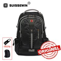 Wholesale Large Jacks - Swisswin Swissgear design Men's Women's Daily Backpack with Laptop Sleeve headphone jack Large Capacity Bag For Travel SW6005V