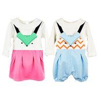 Wholesale Girls Overalls Skirt Children - Girls Dresses Overalls Summer Cartoon Fox Suspender Skirt Baby Clothes Fashion Kids Clothing Children European Style