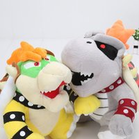 Wholesale Yellow Dragon Toy - 24cm Super Mario 3D Land Bone Kubah dragon Plush Toy Bolster plush soft stuffed dolls Dry Bones Bowser Koopa
