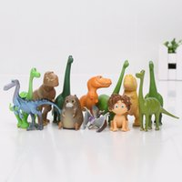 Wholesale Dinosaur Action - 12pcs lot The Good Dinosaur Action Figure Toy 2.5-7cm PVC Cartoon Figure Toys For Children Anime Brinqudoes Christmas Gift for children