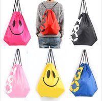 Wholesale Tote Bags For Men Wholesale - Outdoor sports Drawstring Tote Cinch Sack Promotional waterproof Backpack folding sport Bag for men and women polyester sackbag