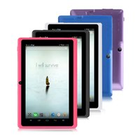 Wholesale US Stock IRULU eXpro Tablet Multi Color quot Q88 Google GMS Android Quadcore Dual Cameras GB GB GB Tablet PC