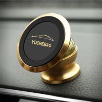 starke handys großhandel-Starker magnetischer Metallhandy-Halter für Auto kann 360 Grad drehen Universal für alle Arten von Mobiltelefonen 6 Farben können vorgewählt werden