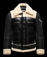 Wholesale Real Clothes Brand - Mon Men Down Overcoat Jacket Winter Coat Clothes Real Duck Down Jacket Luxury Famous Brand Thickening Warm Outwear Customize With velvet