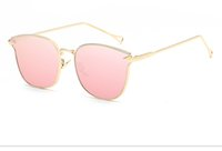 Wholesale cat eye sunglasses prices for sale - Group buy New Price Arrow Shapes Brand Designer Rose Gold Women Mirror Cat eye Sunglasses Metal Nose pad Sun Glasses Vintage Cateye VE0106